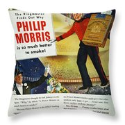 Philip Morris Cigarette Ad Throw Pillow
