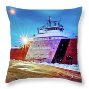 Philip R.clarke West Pier Sault Ste.marie Michigan -3124 Throw Pillow