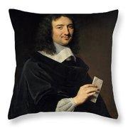 Philippe De Champaigne    Jean Baptiste Colbert 16191683 Throw Pillow