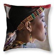 Philippine Dancer Throw Pillow