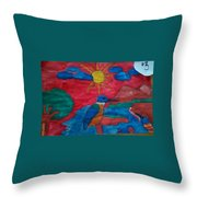 Philippine Kingfisher Painting Contest 4 Throw Pillow