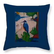 Philippine Kingfisher Painting Contest 6 Throw Pillow