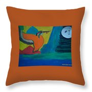 Philippine Kingfisher Painting Contest2 Throw Pillow