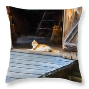 Philipsburg Manor - Gristmill Greeter Throw Pillow