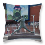 Phillies Steve Carlton Statue Throw Pillow