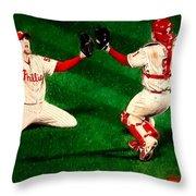 Phillies Win The World Series Throw Pillow