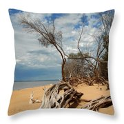 Phillip Island Beach Throw Pillow
