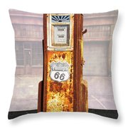 Phillips 66 Antique Gas Pump Throw Pillow