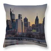 Philly Before Dawn From South Street Throw Pillow