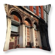 Philly Building Throw Pillow
