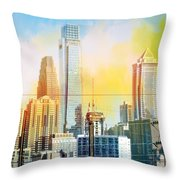 Philly From Drexel Hill Throw Pillow