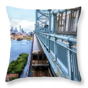 Philly From The Bridge Throw Pillow