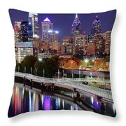 Philly In Panoramic View Throw Pillow