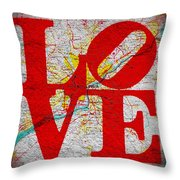 Philly Love V1 Throw Pillow