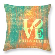 Philly Love V10 Throw Pillow