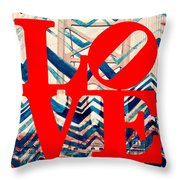 Philly Love V17 Throw Pillow
