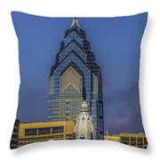Philly Skyline-old And New Throw Pillow