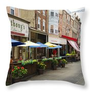 Philly's Italian Market Throw Pillow