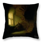 Philosopher In Meditation Throw Pillow