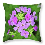 Phlox For You Throw Pillow