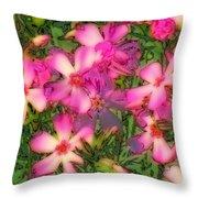 Phlox Fun - Pink Glow Throw Pillow