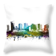 Phoenix Cityscape 01 Throw Pillow