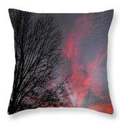 Phoenix Cloud Rising Throw Pillow