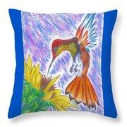 Phoenix Fire Hummingbird Throw Pillow