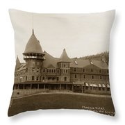 Phoenix Hotel Las Vegas Hot Springs New Mexico 1890 Throw Pillow