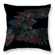 Phoenix Rising Galaxy Throw Pillow