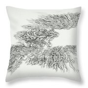 Phoenix Rising Sketch Throw Pillow