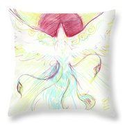Phoenix Sun Throw Pillow