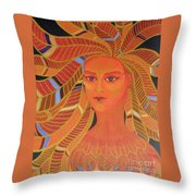 Phoenix Woman Throw Pillow