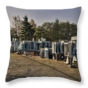 Phone Booth Graveyard Throw Pillow