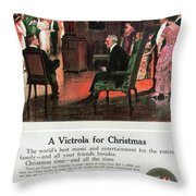 Phonograph, 1914 Throw Pillow