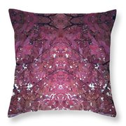 Photo 0800 Autumn Tree Leaves Fractal  E1 Mid Top  Throw Pillow