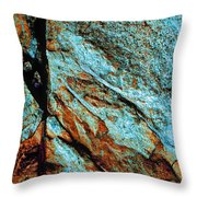 Line In The Rock Throw Pillow