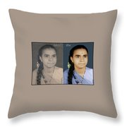Photo Restoration Services Image Outsource India Throw Pillow
