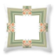 Photoart Orange Flowers-1 Throw Pillow