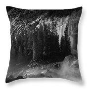 Photographer At Vernal Falls Throw Pillow
