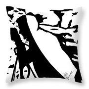 Photographer In Monochrome Throw Pillow