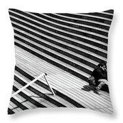 Photographer In Paris Throw Pillow