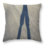 Photographers Shadow Throw Pillow