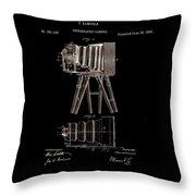 Photographic Camera Patent 1885 Throw Pillow