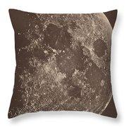 Photographie De La Lune A Son 1er Quartier Throw Pillow