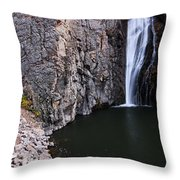 Photographing Porcupine Falls Throw Pillow
