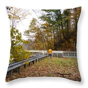 Photographing Scenery Throw Pillow