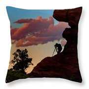 Photographing The Landscape Throw Pillow