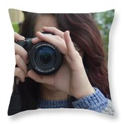 Photography Class Throw Pillow