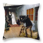 Photography Studio, C1878 Throw Pillow